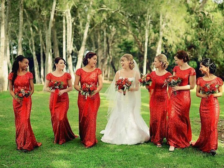 Red Maid-matron of honour Dresses – Help Make Your Wedding Unforgettable